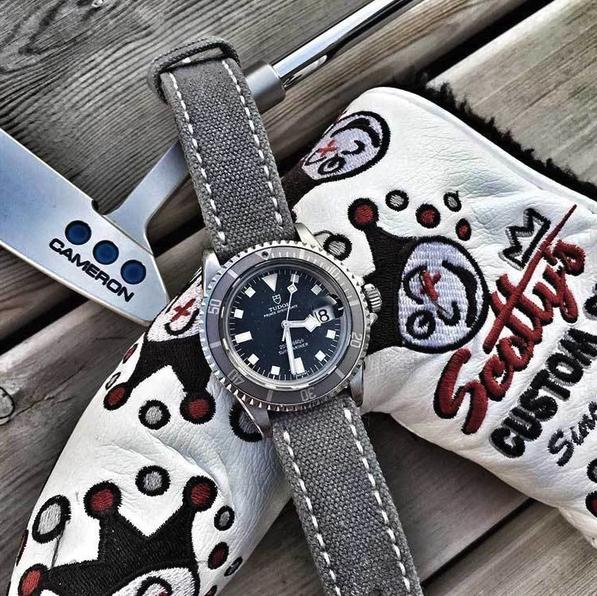 Tudor watch with nato strap