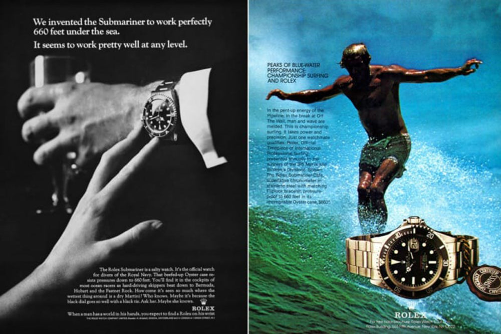 remarkable rolex ads