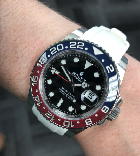 rolex rubber watch strap