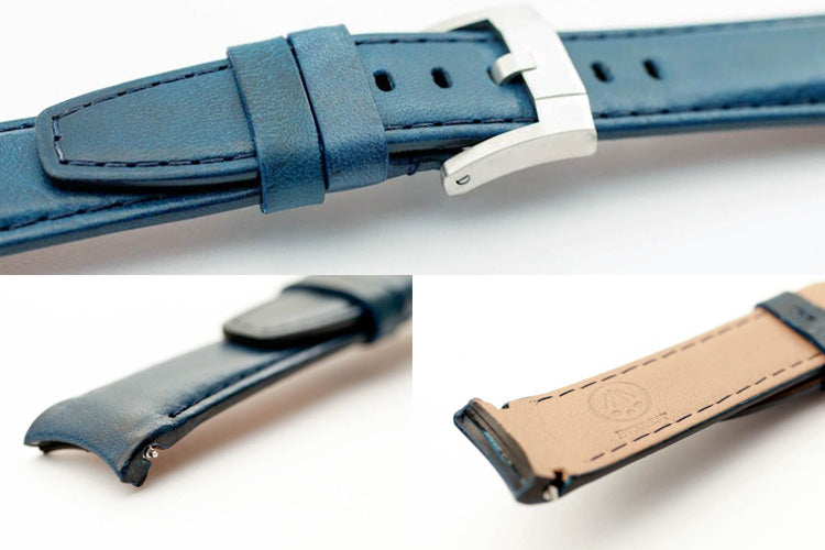 Curved end leather watchbands Rolex