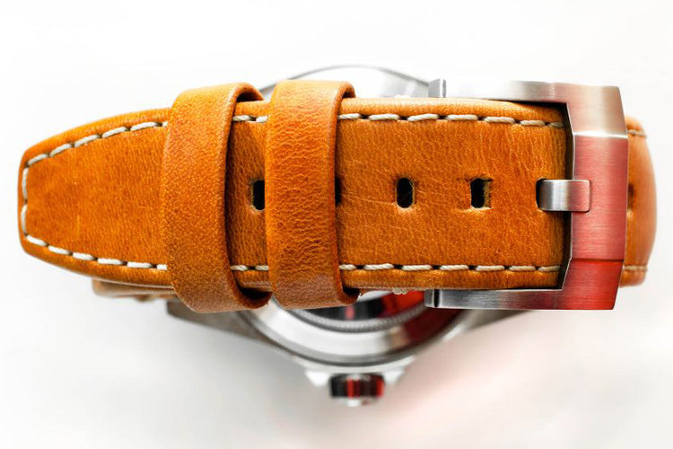 everest tan leather tang watch strap
