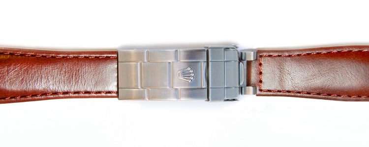 deployment rolex clasp leather