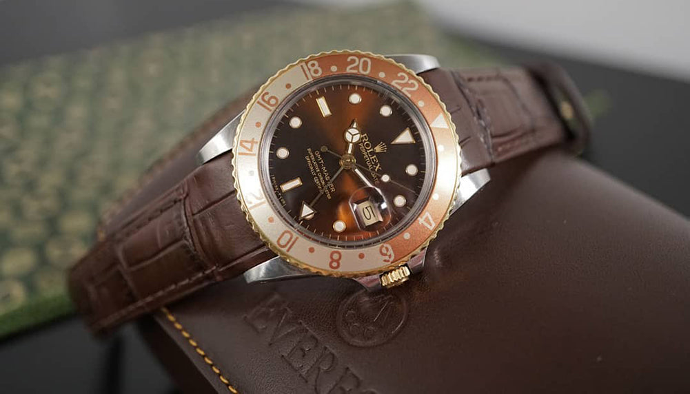 rolex gmt leather watch band