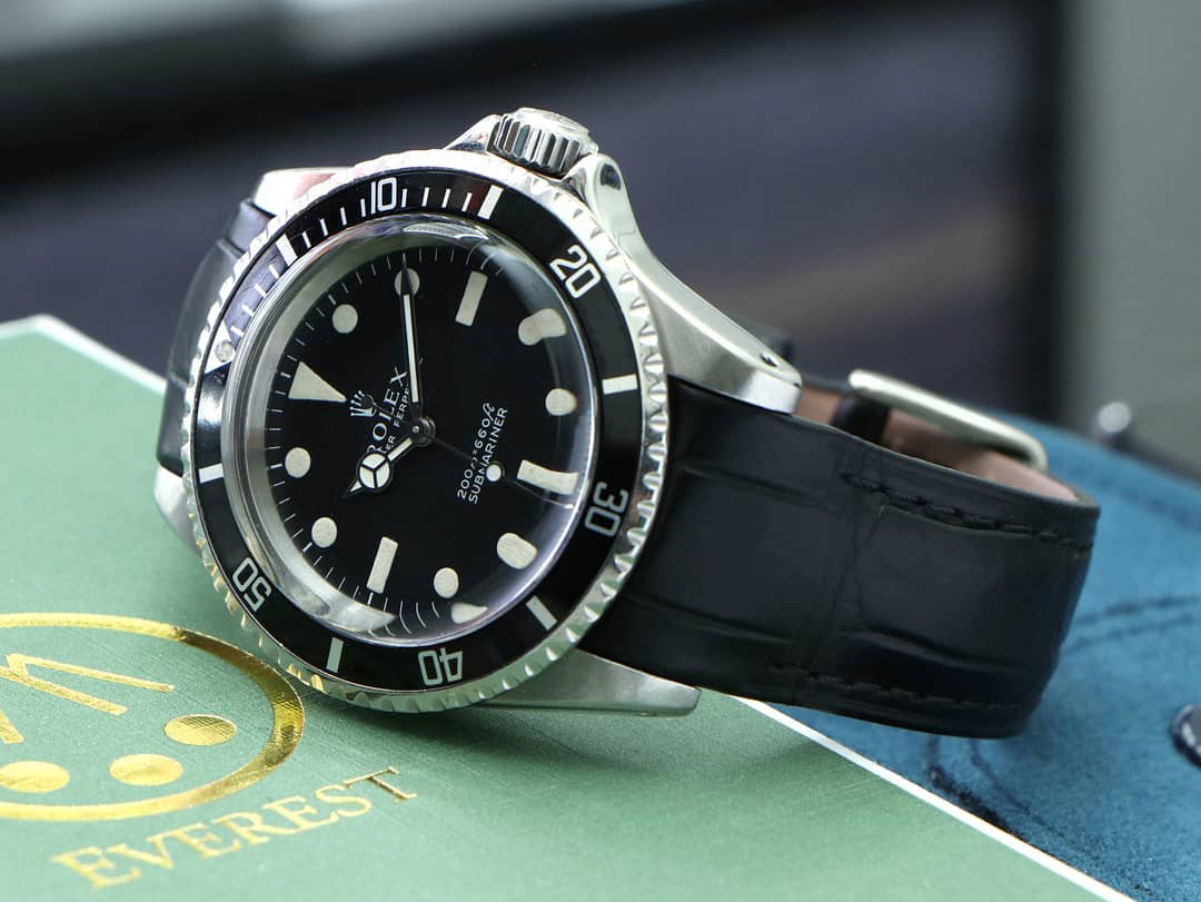 rolex submariner leather