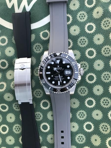 rolex submariner rubber bracelet