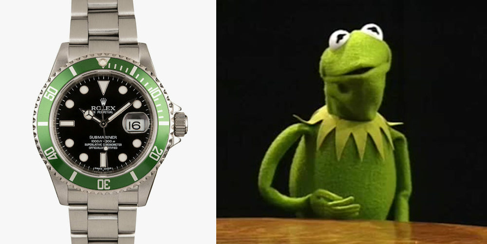 rolex kermit watch band