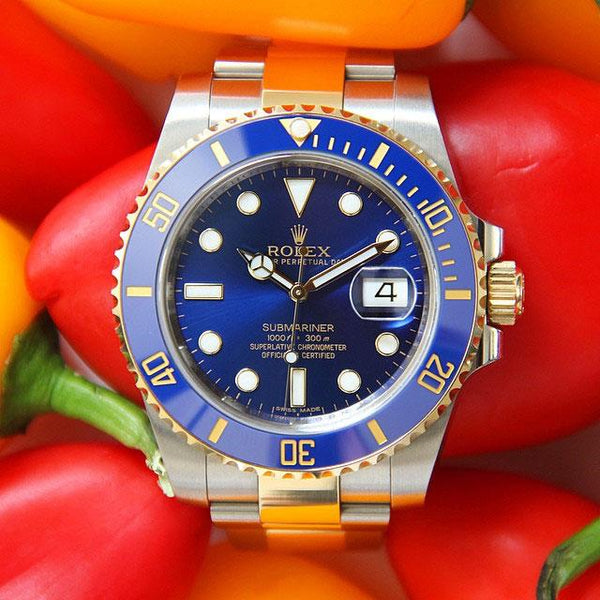rolex submariner on bracelet