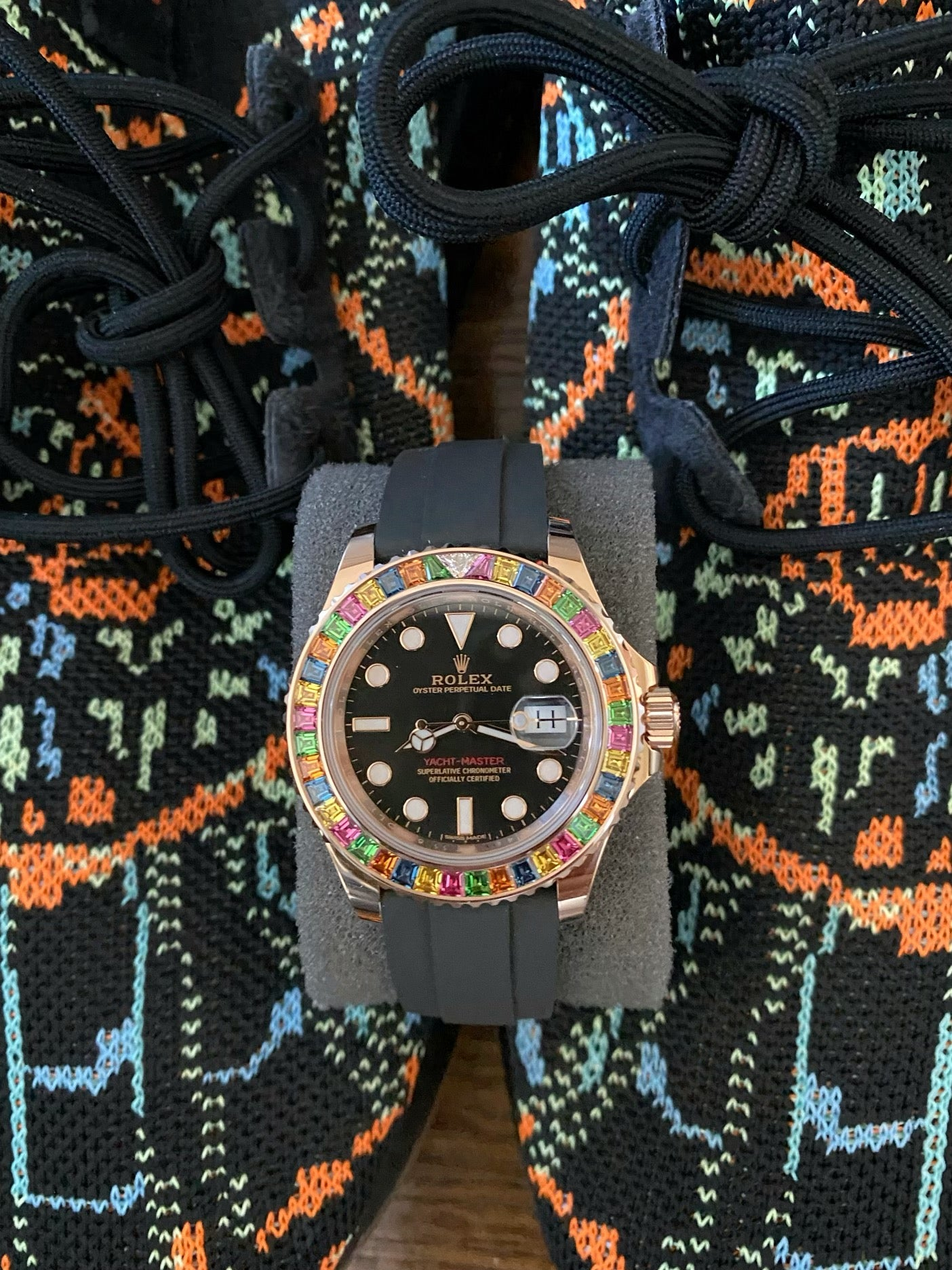 rolex gummy bear 116655 with adidas sneakers
