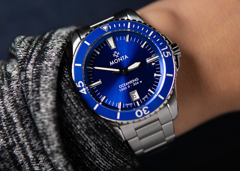 monta blue dial watches