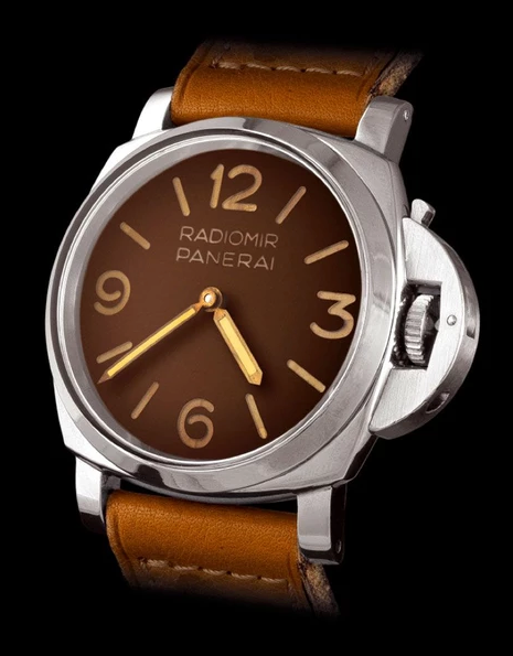 leather panerai watch band