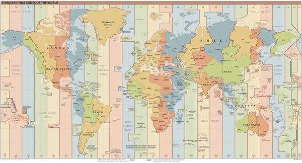 timezone world map