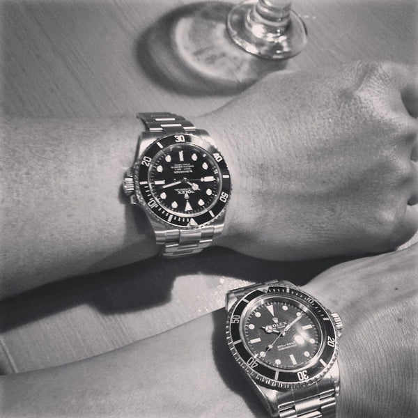 old and new rolex submariner