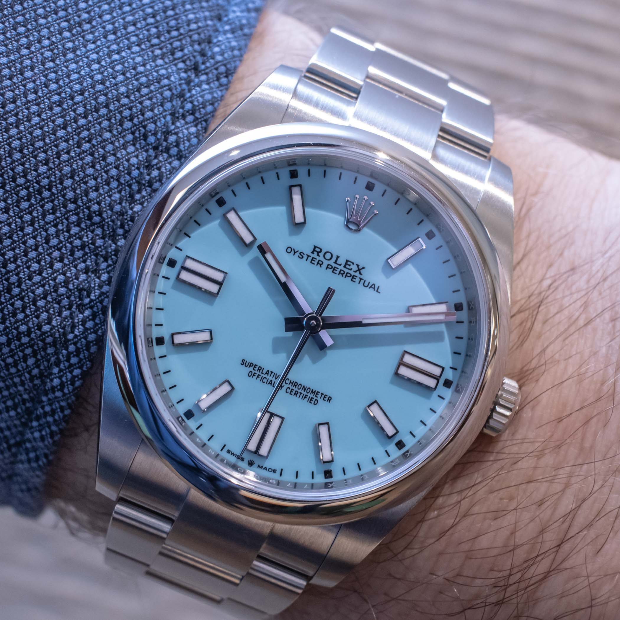 rolex oyster perpetual 41 turquoise dial 2020 new release
