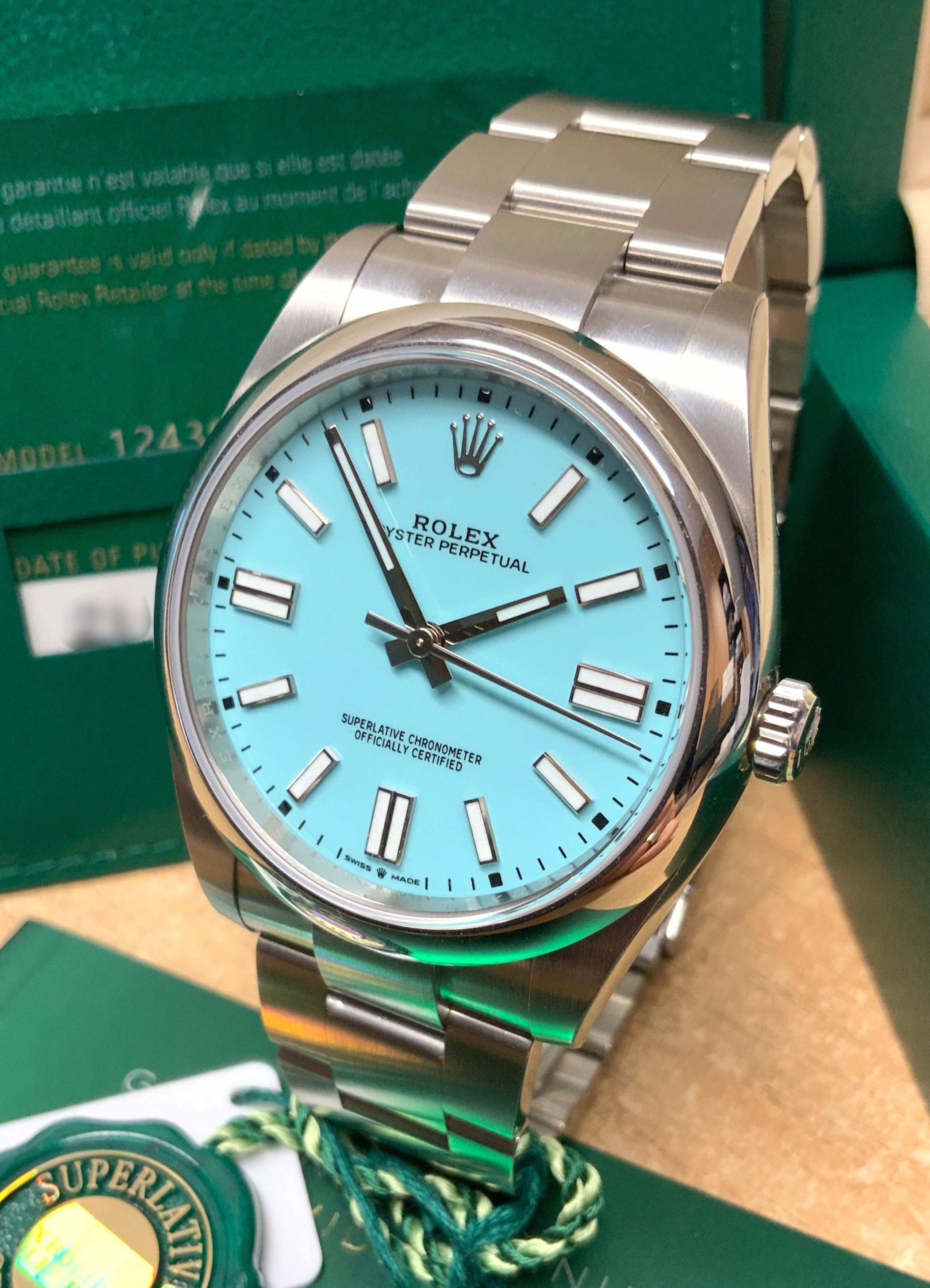 rolex oyster perpetual 41mm turquoise dial 2020
