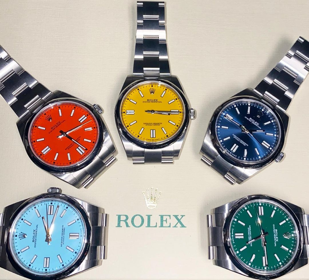 rolex oyster perpetual 41mm collection
