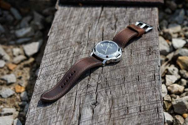 leather panerai strap
