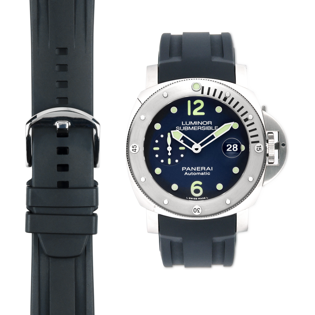 panerai sub on rubber strap from everest