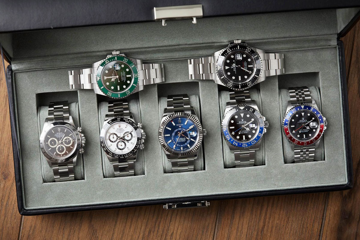 rolex collection in a box