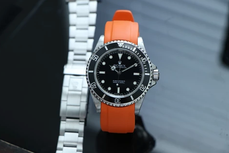 Rolex Submariner rubber watch strap oyster bracelet