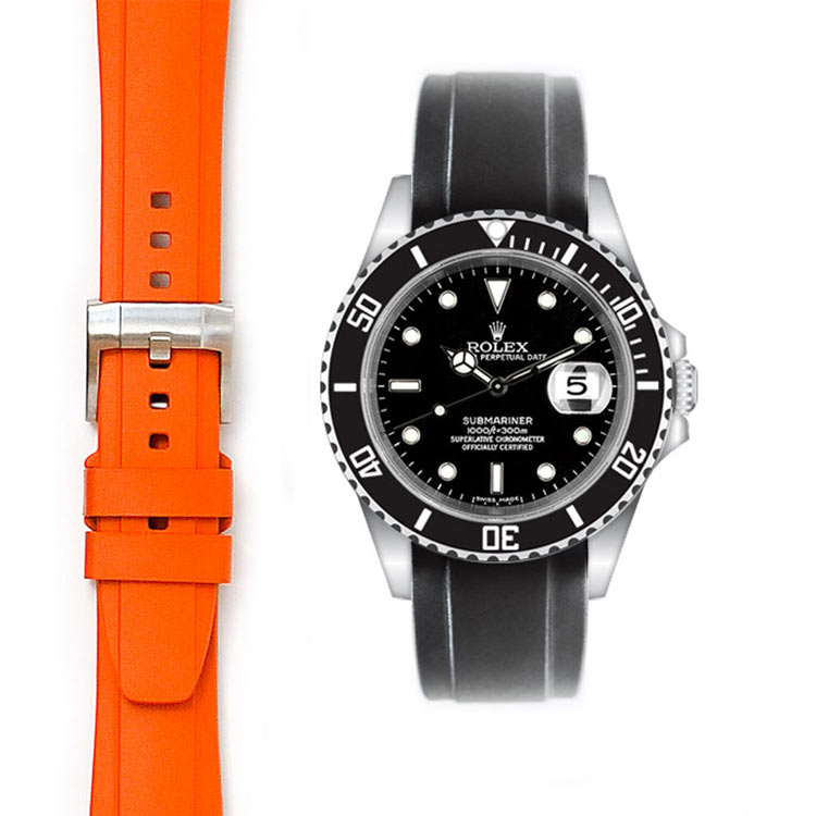 rolex rubber strap with tang buckle from everest