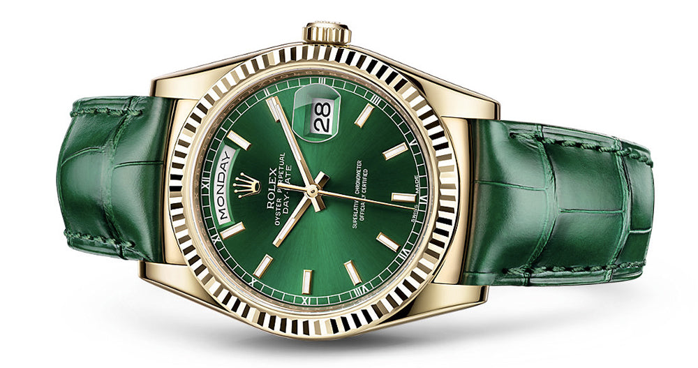 Rolex day-date on leather