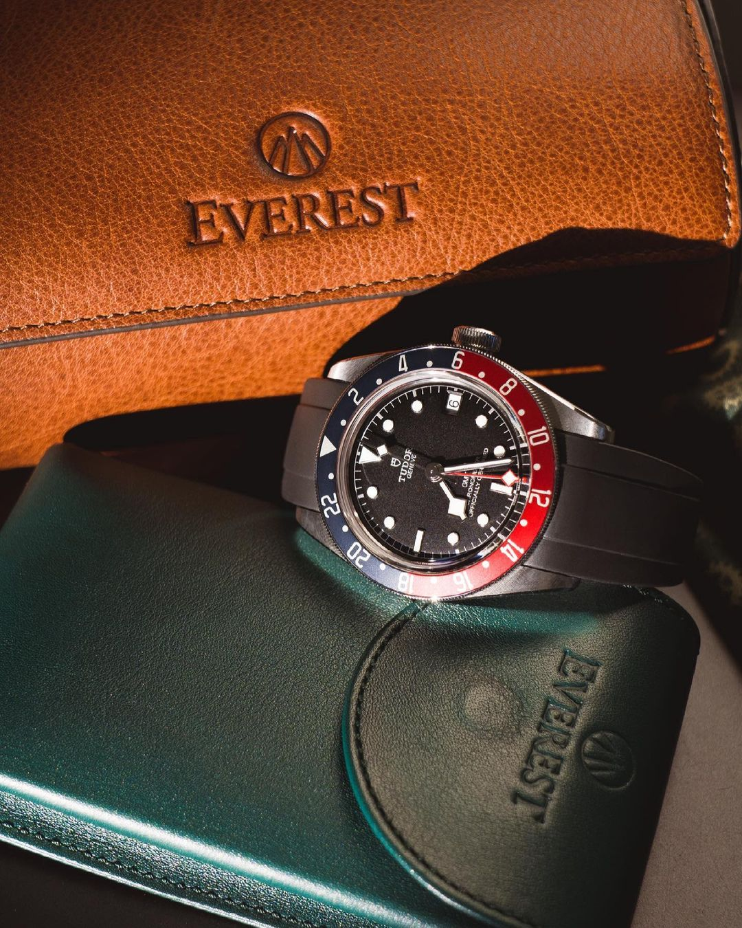 tudor watch on rubber everest band near everest leather watch roll