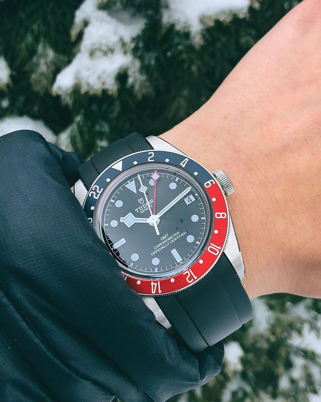tudor watch with everest rubber strap