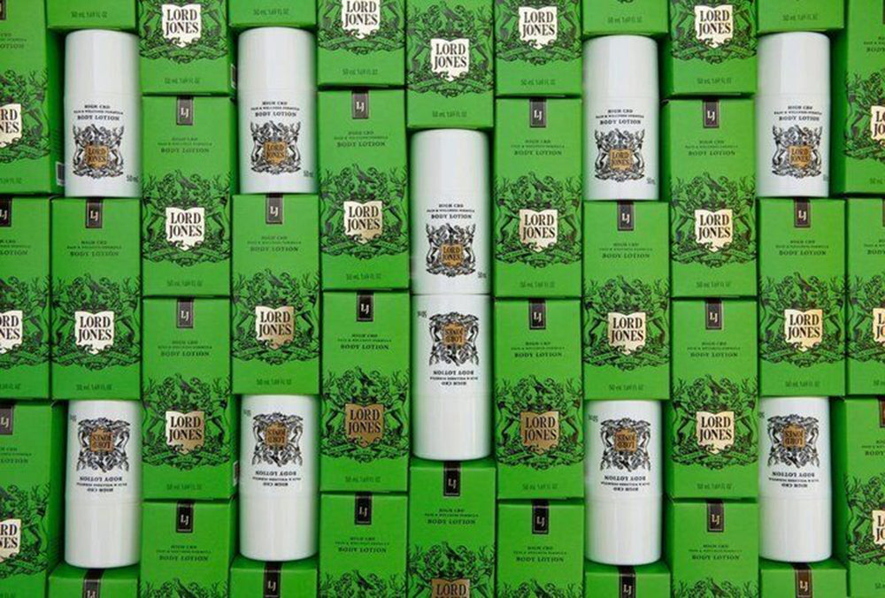 CBD-infused body lotion from Lord Jones