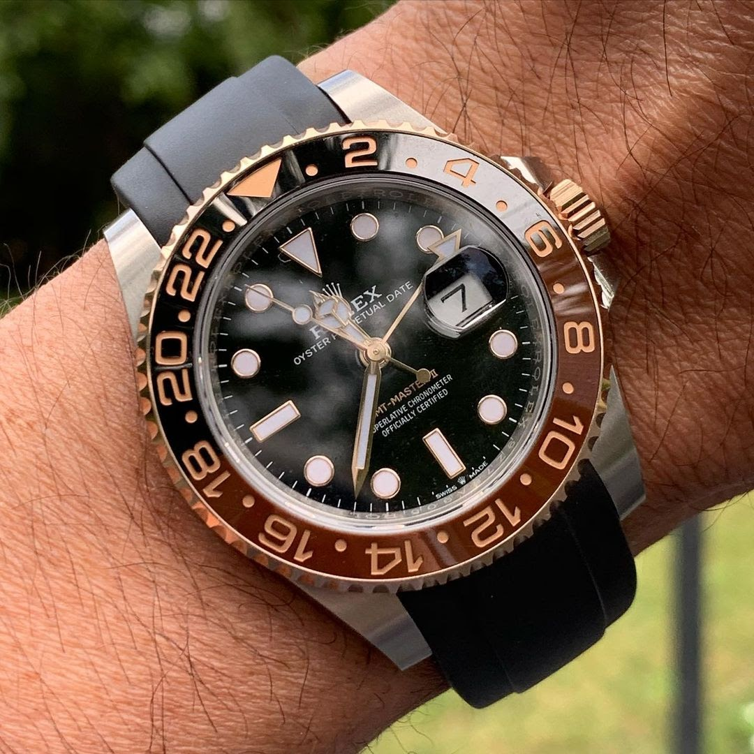rolex gmt ceramic on everest rubber watch band