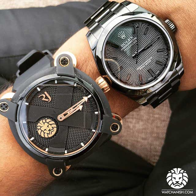 watch anish black rolex