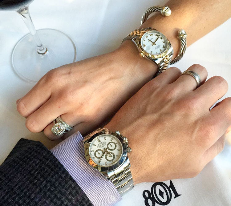 Man and woman's Rolex