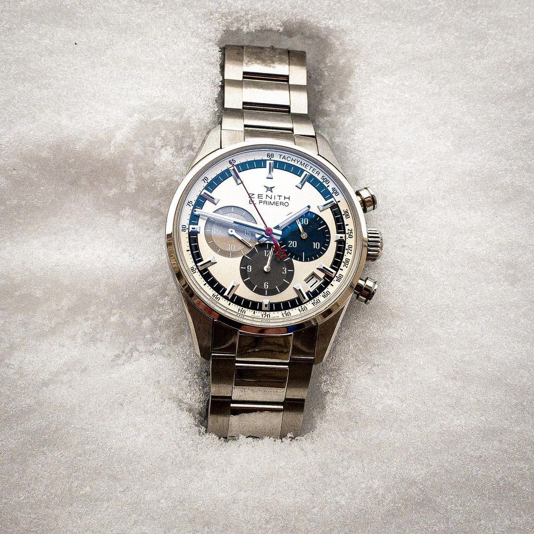 zenith watch in snow