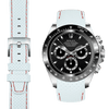 Rolex Daytona white leather watch strap