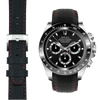 Rolex Daytona black leather watch strap