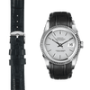 Datejust black alligator leather watch strap