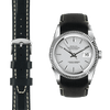 Datejust black leather watch strap