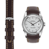 Datejust brown leather watch strap