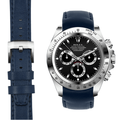 Rolex Daytona blue leather watch strap