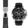Rolex Daytona black leather deployant watch strap