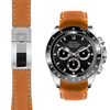 Rolex Daytona tan leather deployant watch strap