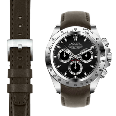 Rolex Daytona chocolate leather watch strap