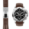 Rolex Daytona brown leather deployant watch strap