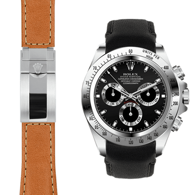 Rolex Daytona leather deployant watch straps