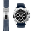 Rolex Daytona blue leather deployant watch strap
