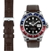 Rolex GMT brown alligator  leather watch strap