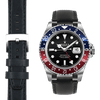 Rolex GMT balck leather watch strap