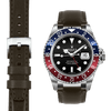 Rolex GMT chocolate leather watch strap