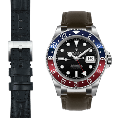 Rolex GMT leather watch strap