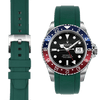 Rolex GMT green rubber watch strap