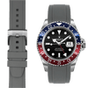 Rolex GMT grey rubber watch strap